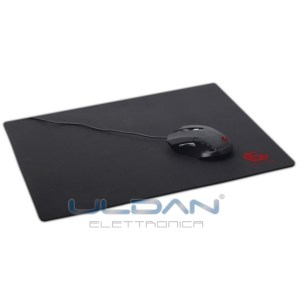 Tappetino mouse gaming supporto tappeto game soft touch nero rosso