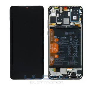 LCD DISPLAY TOUCH BATTERIA HUAWEI P30 LITE NEW EDITION ORIGINALE NERO